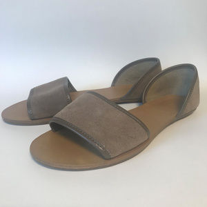 Taupe Suede d'Orsay Flats